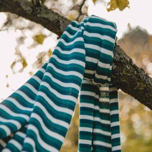 Streifenliebe - Schal aus Biobaumwolle
